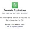 Facebook Safety Check, Brüksel Patlaması Sonrasında da Kullanıldı