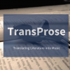 Kitabın Müziği: TransProse
