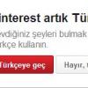 Pinterest Türkçe Konuşuyor