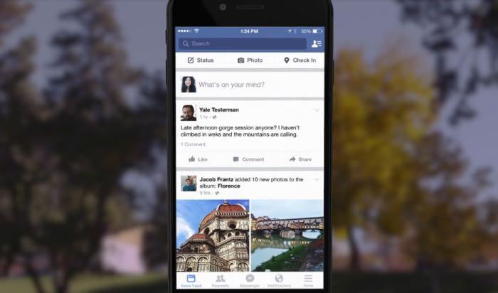 Facebook Haber Akışı Güncellemesi