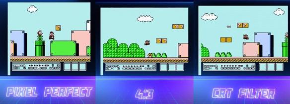 NES Mini'nin farklı görüntü seçenekleri